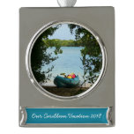 Kayaking in St. Thomas Silver Plated Banner Ornament