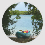 Kayaking in St. Thomas US Virgin Islands Classic Round Sticker