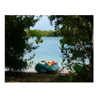 Kayaking in St. Thomas US Virgin Islands Postcard