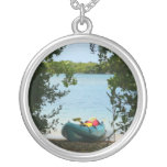 Kayaking in St. Thomas US Virgin Islands Silver Plated Necklace