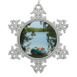 Kayaking in St. Thomas US Virgin Islands Snowflake Pewter Christmas Ornament
