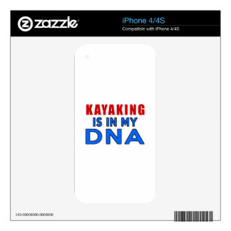 KAYAKING IS IN MY DNA iPhone 4 SKIN