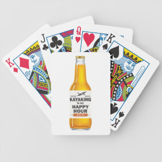 Kayaking Is My Happy Hour Bicycle Playing Cards