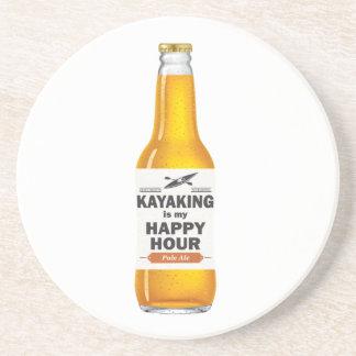 Kayaking Is My Happy Hour Coaster