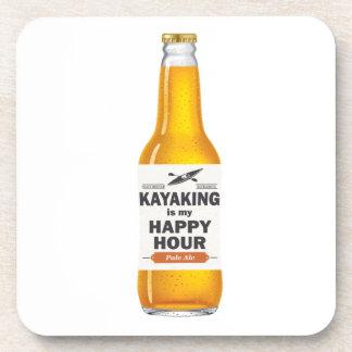 Kayaking Is My Happy Hour Drink Coaster