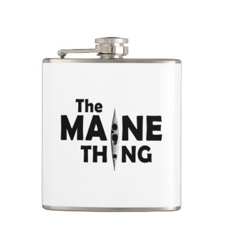 Kayaking Is The Maine Thing Flask
