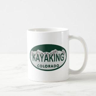 Kayaking license oval coffee mug