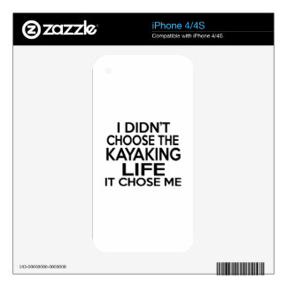 KAYAKING LIFE DESIGNS DECALS FOR THE iPhone 4S