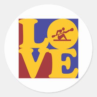 Kayaking Love Stickers