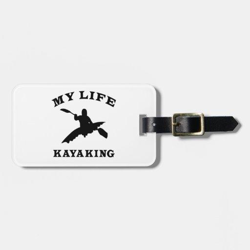 Kayaking mi vida etiqueta para equipaje