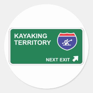 Kayaking Next Exit Round Sticker