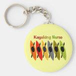 Kayaking Nurse T-Shirts and Gifts Basic Round Button Keychain