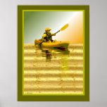 Kayaking on Golden Pond Fine Art Print / Poster