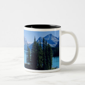 Kayaking on Maligne Lake at Spirit Island Two-Tone Coffee Mug