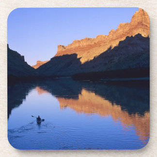 Kayaking on the Colorado River in Spanish Beverage Coaster