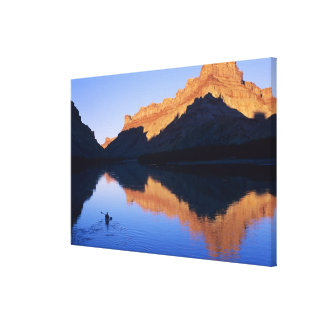 Kayaking on the Colorado River in Spanish Gallery Wrap Canvas