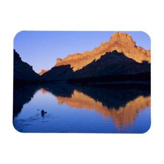 Kayaking on the Colorado River in Spanish Rectangular Magnets