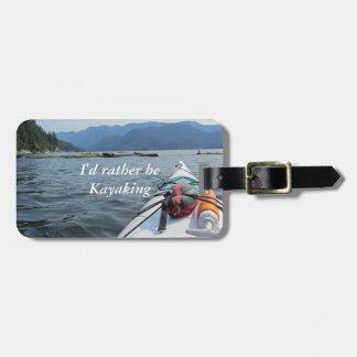 Kayaking on the Ocean Luggage Tag
