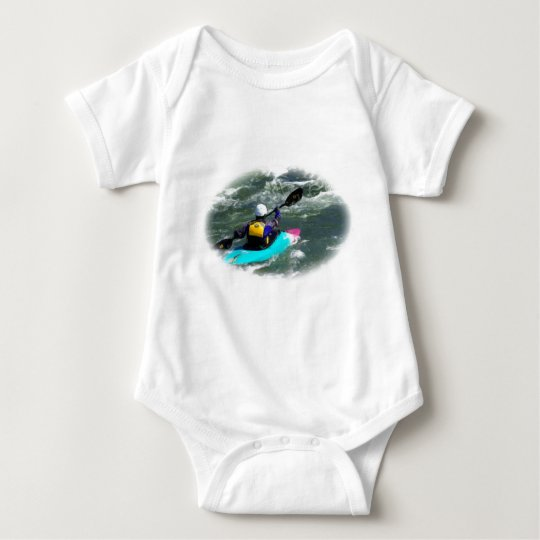 Kayaking On The River Baby Bodysuit