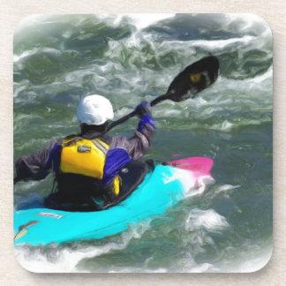 Kayaking On The River Beverage Coaster