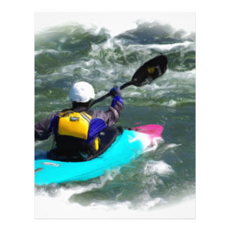 Kayaking On The River Customized Letterhead