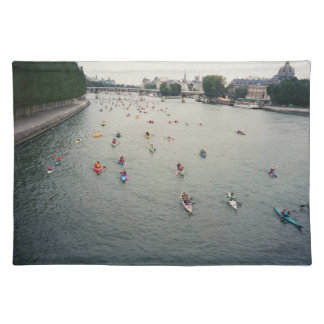 Kayaking on the Seine Paris Without caption Placemat