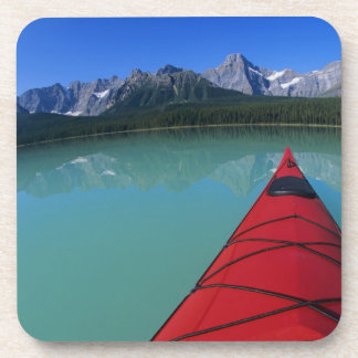 Kayaking on Waterfowl Lake below Howse Peak Beverage Coaster