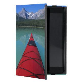 Kayaking on Waterfowl Lake below Howse Peak Covers For iPad Mini