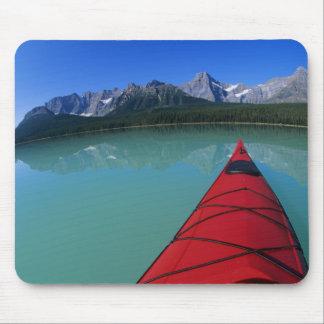 Kayaking on Waterfowl Lake below Howse Peak Mouse Pad