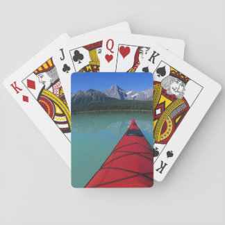 Kayaking on Waterfowl Lake below Howse Peak Poker Deck