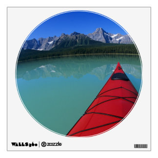Kayaking on Waterfowl Lake below Howse Peak Room Stickers