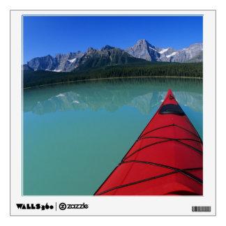 Kayaking on Waterfowl Lake below Howse Peak Wall Decor