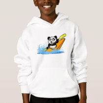 Kayaking Panda Hoodie