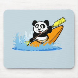 Mousepad with Cute Kayaking Panda design