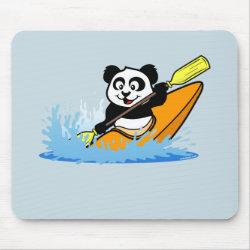 Mousepad with Cute Kayaking Panda design