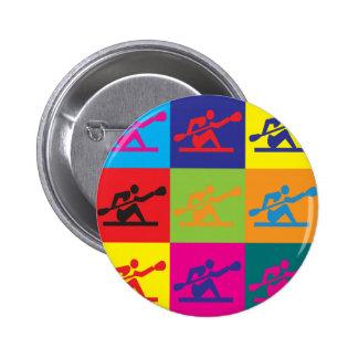 Kayaking Pop Art Button