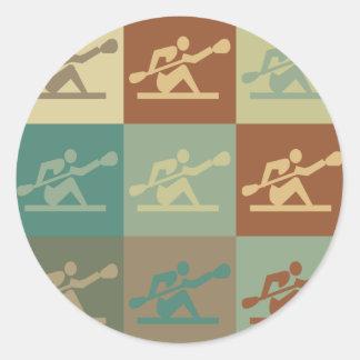 Kayaking Pop Art Round Sticker