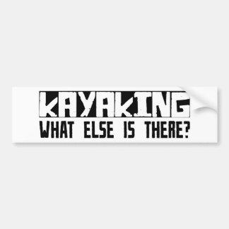 ¿Kayaking qué más está allí? Etiqueta De Parachoque