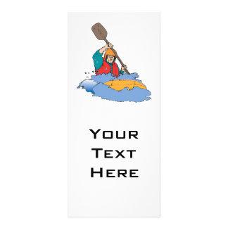kayaking rafting graphic rack card