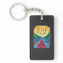 Kayaking - River Is Calling And I Must Go Keychain