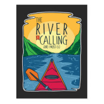 Kayaking - River Is Calling And I Must Go Postcard