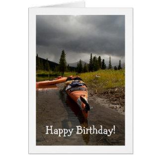 Kayaking the Lapie; Happy Birthday Card