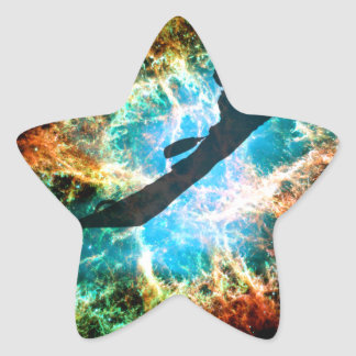 Kayaking the streams of a star cluster. star sticker