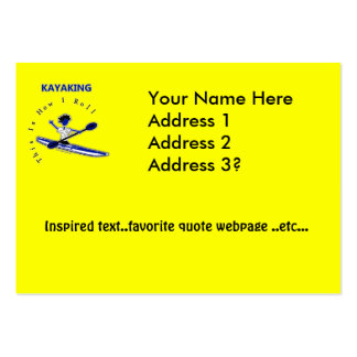 Kayaking This Is How I Roll Business Card Template
