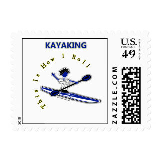 Kayaking This Is How I Roll Postage Stamps