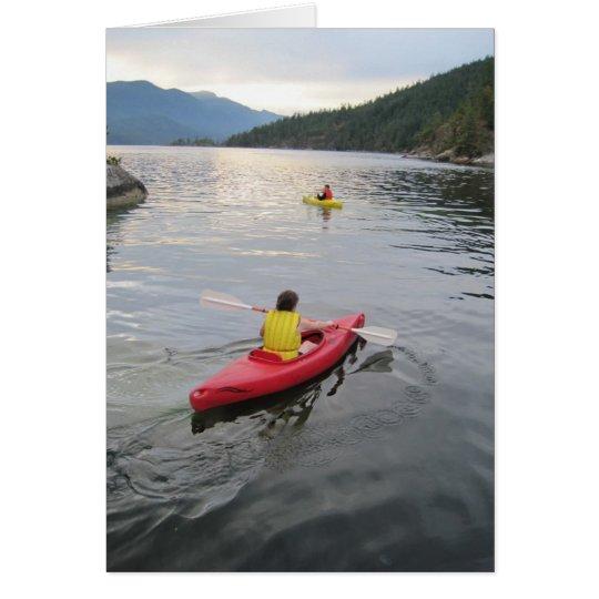 Kayaking Vertical Note Card