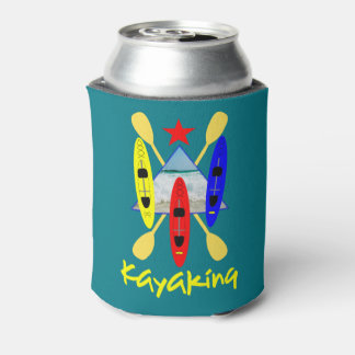 Kayaking Water Sports Themed Graphic Can Cooler