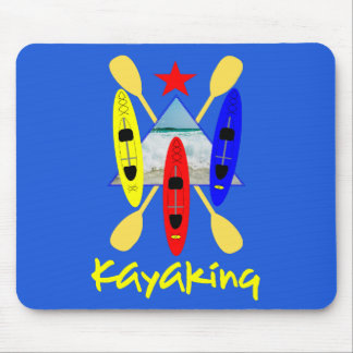 Kayaking Water Sports Themed Graphic Mouse Pad