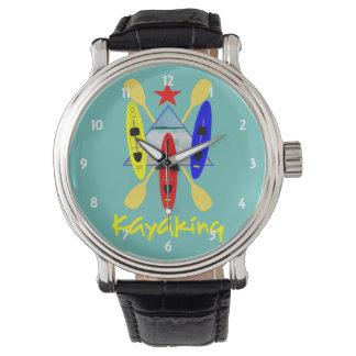 Kayaking Water Sports Themed Graphic Wristwatch