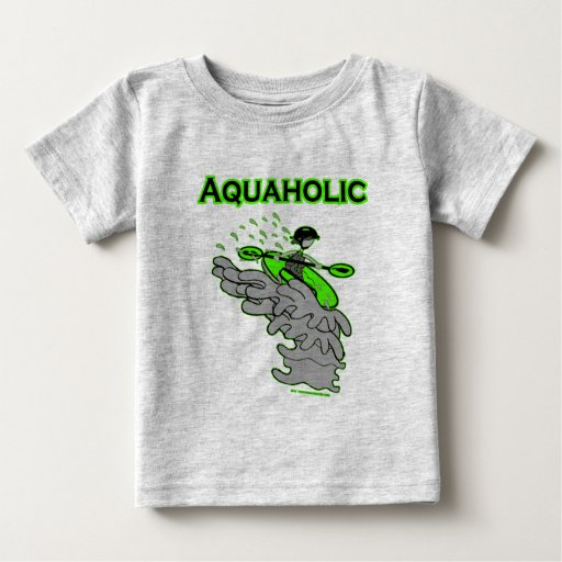 Kayaking Whitewater Silhouette Baby T-Shirt